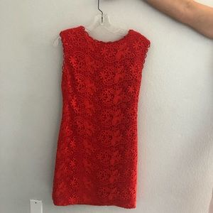 Cynthia Steffe Red Lace Dress - worn once
